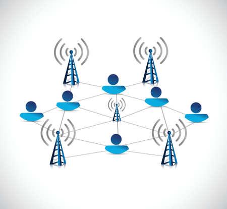 internet online network connection illustration design over a white background Vector