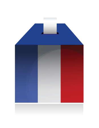 stemmen in frankrijk. illustratie ontwerp op een witte achtergrond