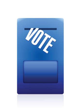 selection box: vote mailbox illustration design over a white background Illustration