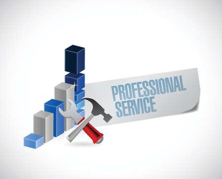 short message service: professional service sign illustration design over a white background