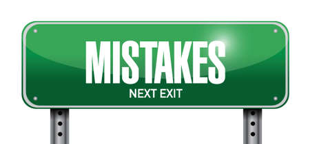 mistakes sign illustration design over a white background