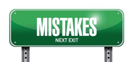 blunder: mistakes sign illustration design over a white background