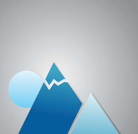 mountaintop: winter mountains illustration design over a grey background Illustration