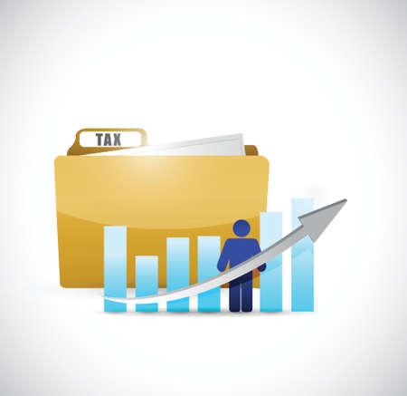 business tax folder illustration design over a white background