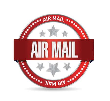 luchtpost seal illustratie ontwerp op een witte achtergrond
