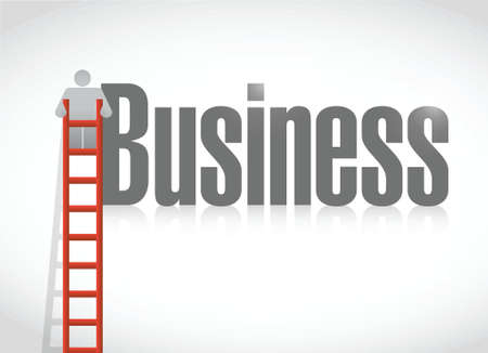 business climbing illustration design over a white background 矢量图像