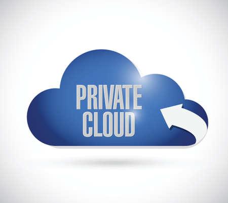 public cloud illustration design over a white background