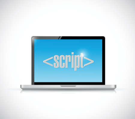 js: computer script sign illustration design over a white background Illustration