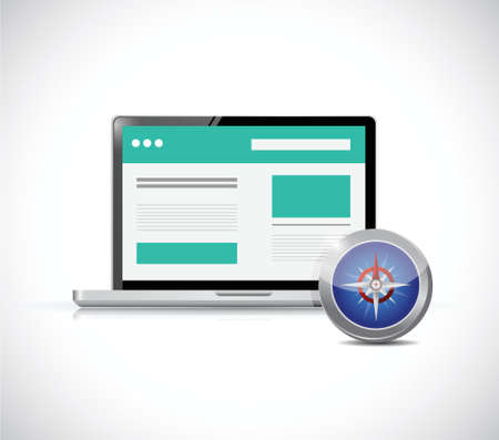 input device: website and compass illustration design over a white background Illustration