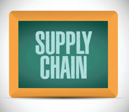supply chain message illustration design over a white background