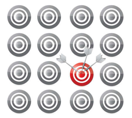 select your target concept illustration design over a white background Vector