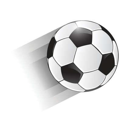 moving soccer ball illustration design over a white background