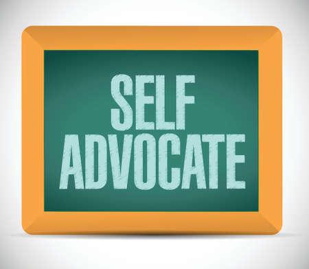 advocate: self advocate message illustration design over a white background