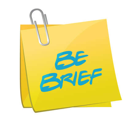 brief: be brief post illustration design over a white background
