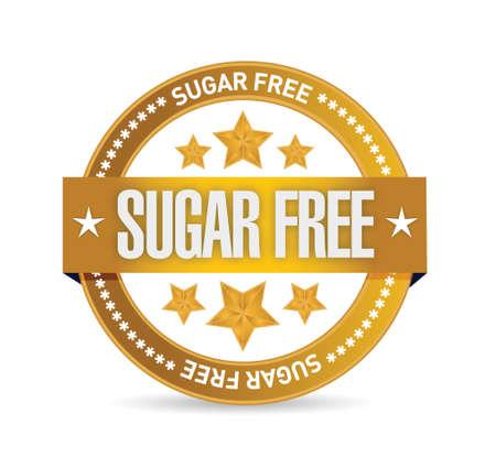 sugar free seal illustration design over a white background Illustration