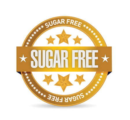 sweetener: sugar free seal illustration design over a white background Illustration
