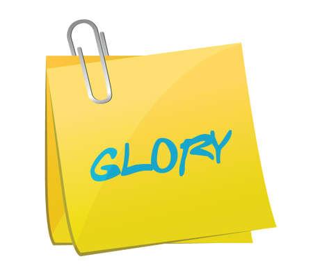 glory: glory post illustration illustration design over a white background Illustration