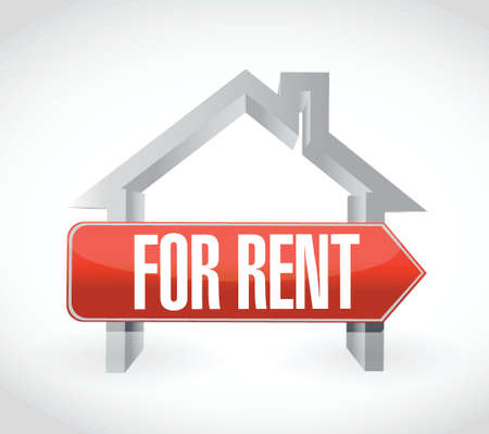 rent: for rent home illustration design over a white background