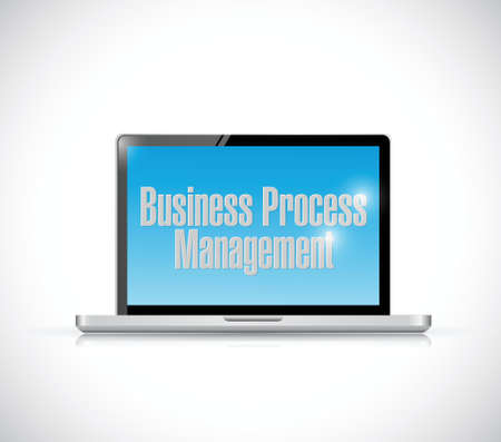 bpm: business process management illustration design over a white background Illustration
