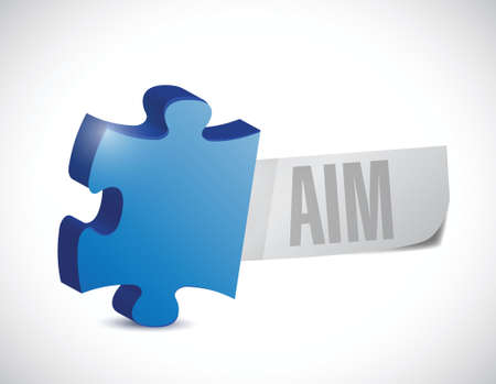 targetting: puzzle aim sign illustration design over a white background Illustration