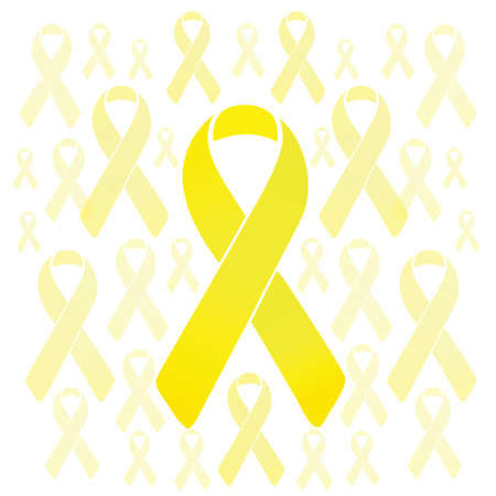 troops: support our troops yellow ribbons illustration design over a white background