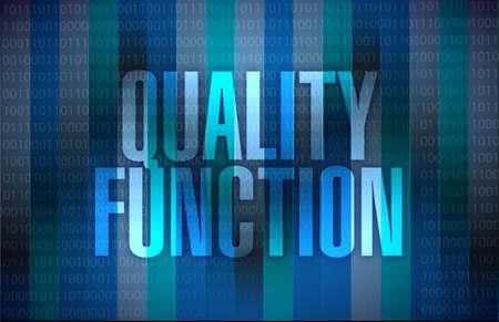 quality function sign illustration design over a binary background Reklamní fotografie
