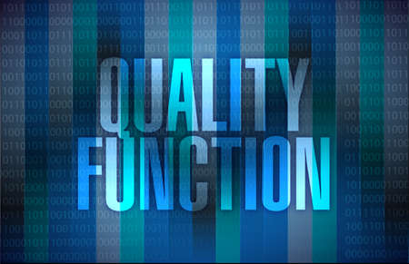quality function sign illustration design over a binary background Stock Photo