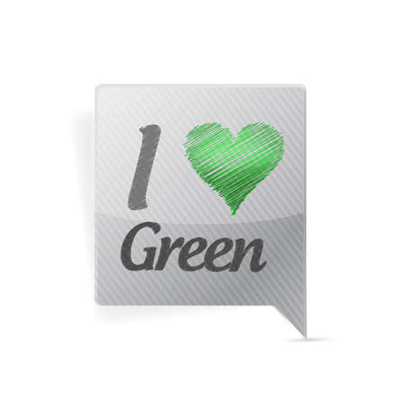 I love green bubble message illustration design over a white background illustration