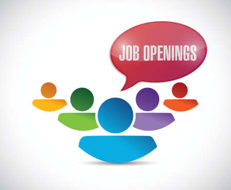 job openings in a team. illustration design over a white background Illustration