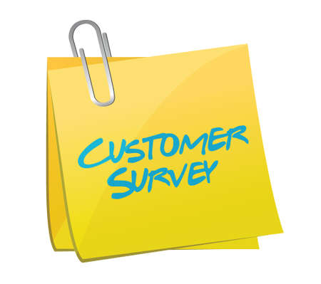 customer survey post illustration design over a white background Vector