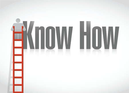 know how: know how education learning concept. illustration design over a white background