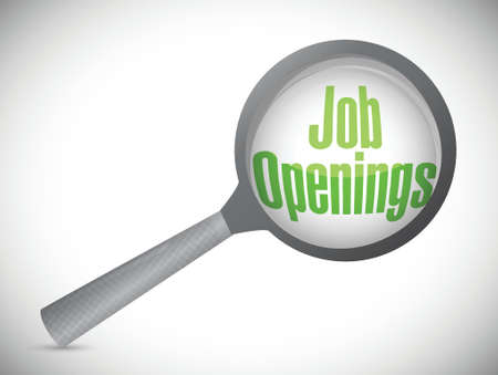 job opportunity: looking for job openings. illustration design over a white background Illustration