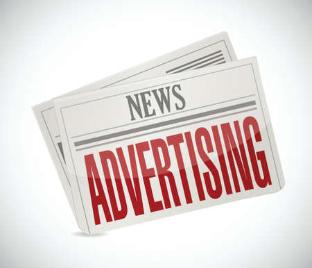 online advertising: advertising newspaper illustration design over a white background