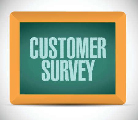 customer survey message illustration design over a white background Vector