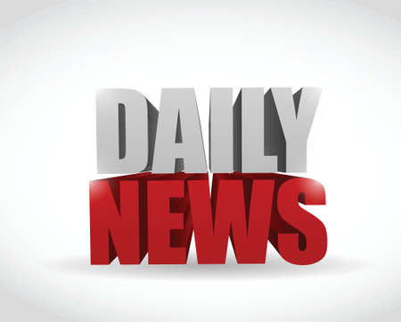 good break: daily news sign text illustration design over a white background