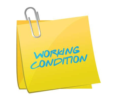 arbeidsomstandigheden te posten illustratie ontwerp op een witte achtergrond Stock Illustratie