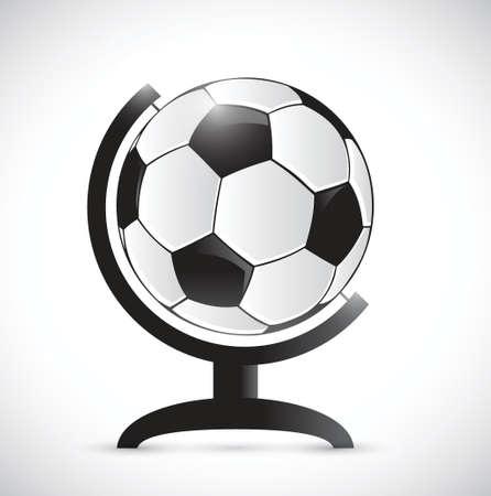 rotator: soccer ball on a rotator atlas. illustration design over a white background