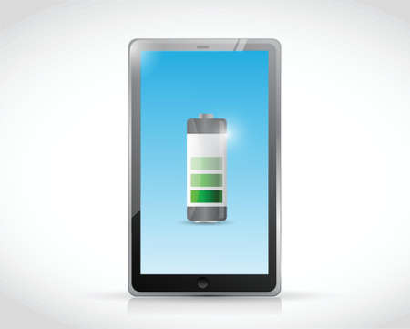 charging tablet illustration design over a white background