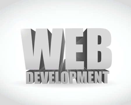 asp: web development text sign illustration design over a white background Illustration
