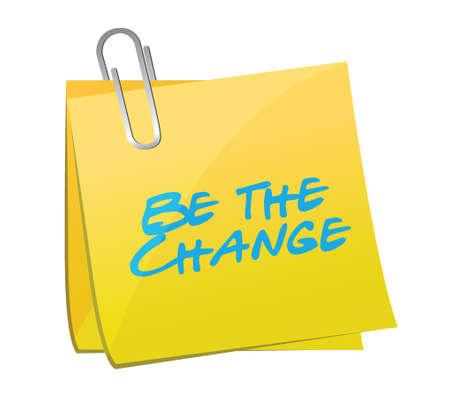 be the change post message illustration design over a white background Reklamní fotografie - 27967758