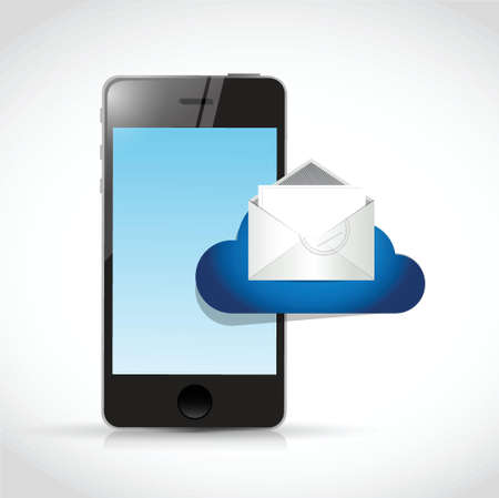 phone and email cloud. illustration design over a white background Vector