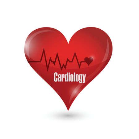 cardiologie hart teken illustratie ontwerp op een witte achtergrond