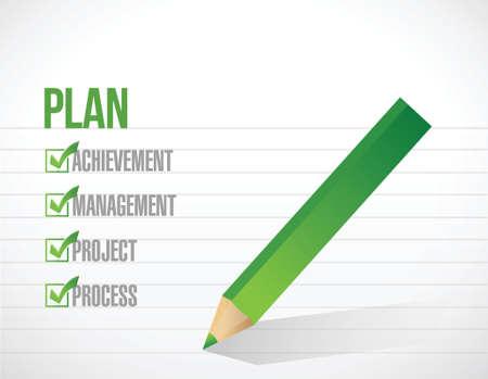 plan check mark illustration design over a white background Vector