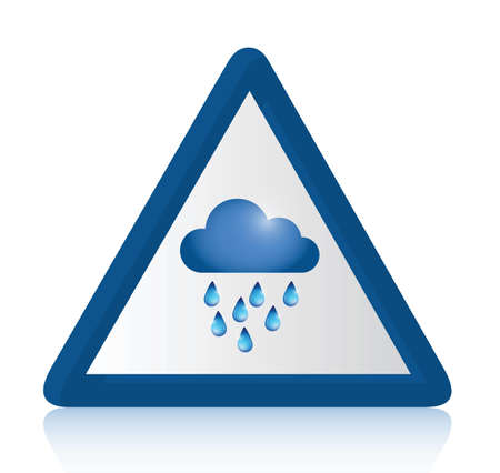 raining sign illustration design over a white background