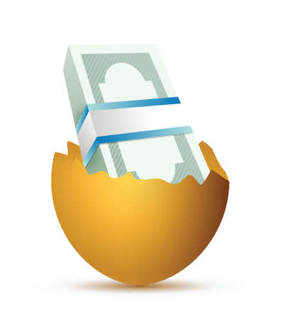 eggs and bills illustration design over a white background Vector