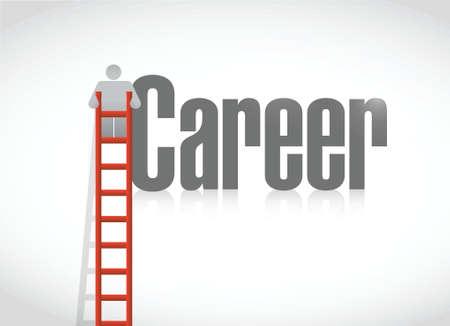 career growth concept illustration design over a white background Illusztráció