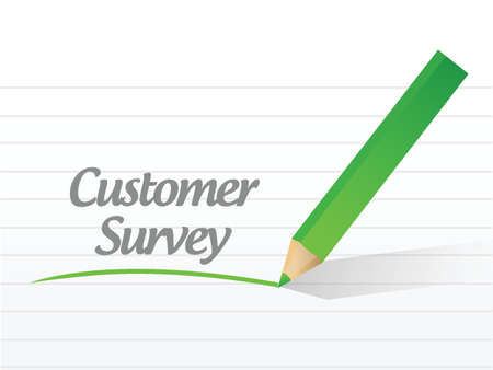customer survey message illustration design over a white background Vector