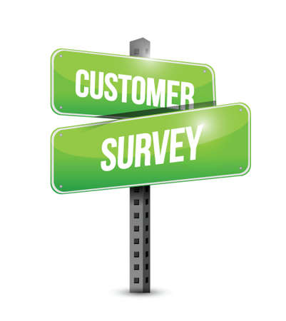 customer survey sign illustration design over a white background Vector