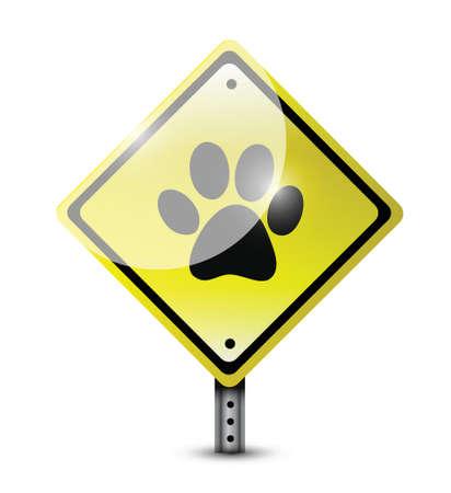 paw sign illustration design over a white background Vettoriali