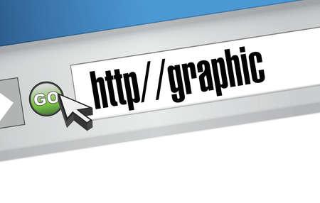 Enlace gráfico en un diseño artístico de la ilustración navegador Foto de archivo - 27968040